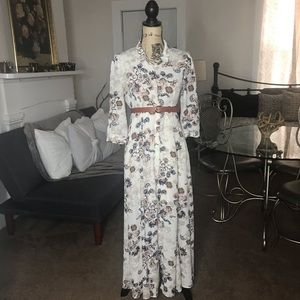 Altar'd State Dresses - Altar'd State Long Flowy White Floral Dress XS / S